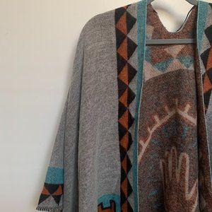 Brand New Sweater Aztec Poncho